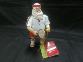 """NWT 1998 CLOTHTIQUE 6 1/2"""" SANTA TENNIS PLAYER by POSSIBLE DREAMS - $11.88"""