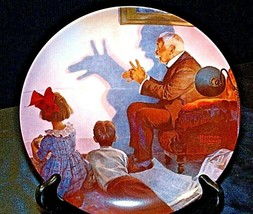 """""""The Shadow Artist"""" by Norman Rockwell Plate with Box ( Knowles ) AA20- CP2180 V"""