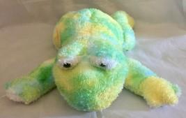 "2006 Ty WEBLEY Green Ty-Die Frog TySilk (12"") Beanie Buddy Plush Stuffed... - $4.99"