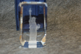 """STATUE OF LIBERTY 3-D LASER ETCHED 3"""" x 2"""" CRYSTAL GLASS CUBE image 2"""