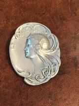 Pewter Pin/Pendant of Art Deco Woman - $63.70