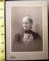 Cabinet Card Pretty Older Lady Named D.C. c.1880-90 - $6.40