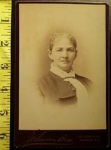 Cabinet Card Pretty Older Woman Studio Info! c.1866-80 - $5.60