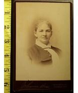 Cabinet Card Pretty Older Woman Studio Info! c.1866-80 - $5.00