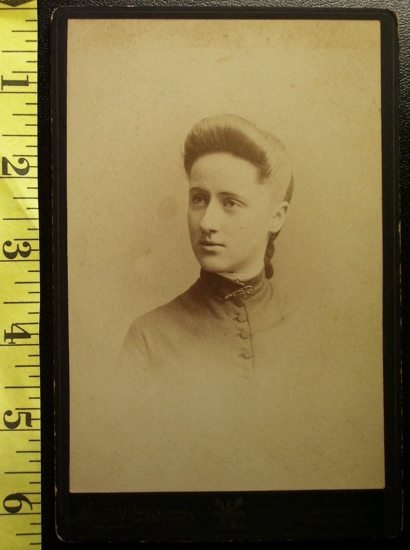 Cabinet Card Pretty Teen Named & Dated 1884!