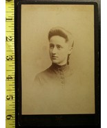 Cabinet Card Pretty Teen Named & Dated 1884! - $5.00