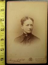 Cabinet Card Pretty Well To Do Lady Named! c.1866-80 - $6.40