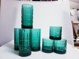 7 Pc Set Anchor Hocking TARTAN Emerald Green -4 Iced Tea, 3 Old Fashion ... - $27.72