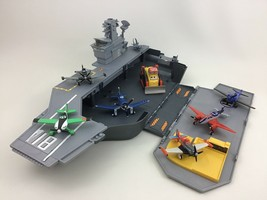Disney Planes Flysenhower Aircraft Carrier Toy 8pc Lot Die-cast Dusty Sk... - $89.05