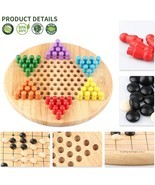 Wooden Chinese Checker Game for Kids 2 in 1 Chinese Checkers & Gobang (... - $21.90