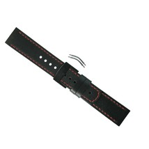 Suunto Elementum Ventus Strap Black/Red Leather One Size SHIPSFREE - $65.14