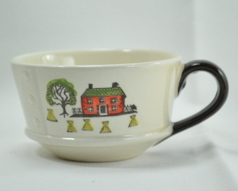 Metlox Poppytrail Colonial Heritage haystacks coffee cup