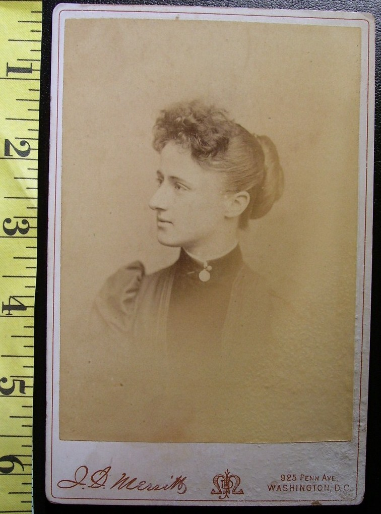 Cabinet Card Pretty Lady Named & Dated Dec. 1890!