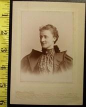 Cabinet Card Pretty Lady Bat Winged Coat! c.1880-90 - $4.80