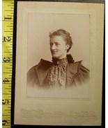 Cabinet Card Pretty Lady Bat Winged Coat! c.1880-90 - $5.00