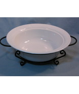 Corning Ware White Flora Round Casserole Baking Dish Pyroceram Cookware - $24.99