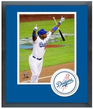 "Yasiel Puig Dodgers RBI Triple Game 3 2013 NLCS - 11"" x 14"" Matted/Framed Photo  - $43.95"