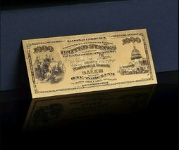 "< MINT >1875 ""GOLD""$1,000 1ST National BANK Of SALEM Banknote~AWESOME DETA - $11.19"