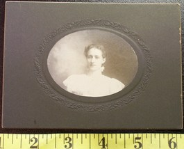 Cabinet Card Pretty Young Lady in White! c.1880-90 - $5.00