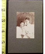 Cabinet Card Two Pretty Young Ladies in White! c.1890`s - $4.00