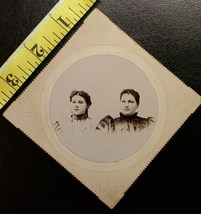 Cabinet Card Two Pretty Young Sisters Named! c.1890`s - $3.20