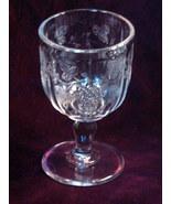 Antique EAPG Pattern Glass Jenkins Late Paneled Grape Water Goblet Press... - $36.99