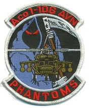 US Army A Co 1-106 AVN Phantoms Helicopter Patch - $11.87