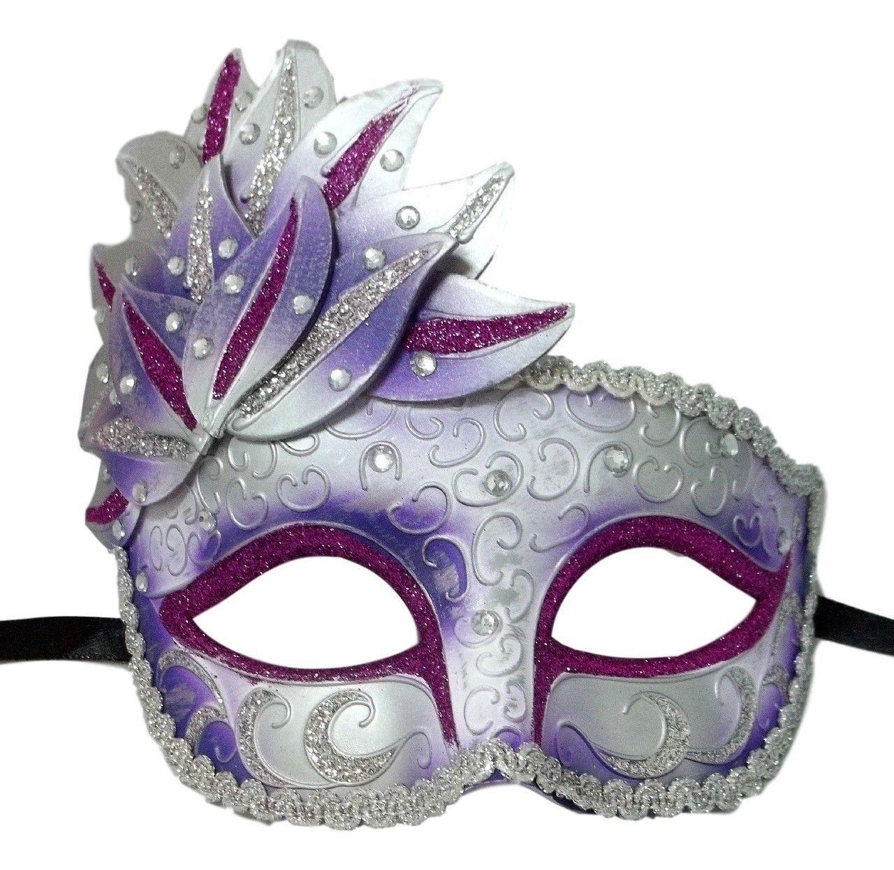 Teen Venetian Mardi Gras Mask GOLD & Bronze Cascade Mardi Gras New Orleans Current (1991-Now)
