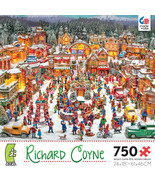 Village Square Christmas Richard Coyne Jigsaw Puzzle 750 pc Ceaco New Se... - $23.71