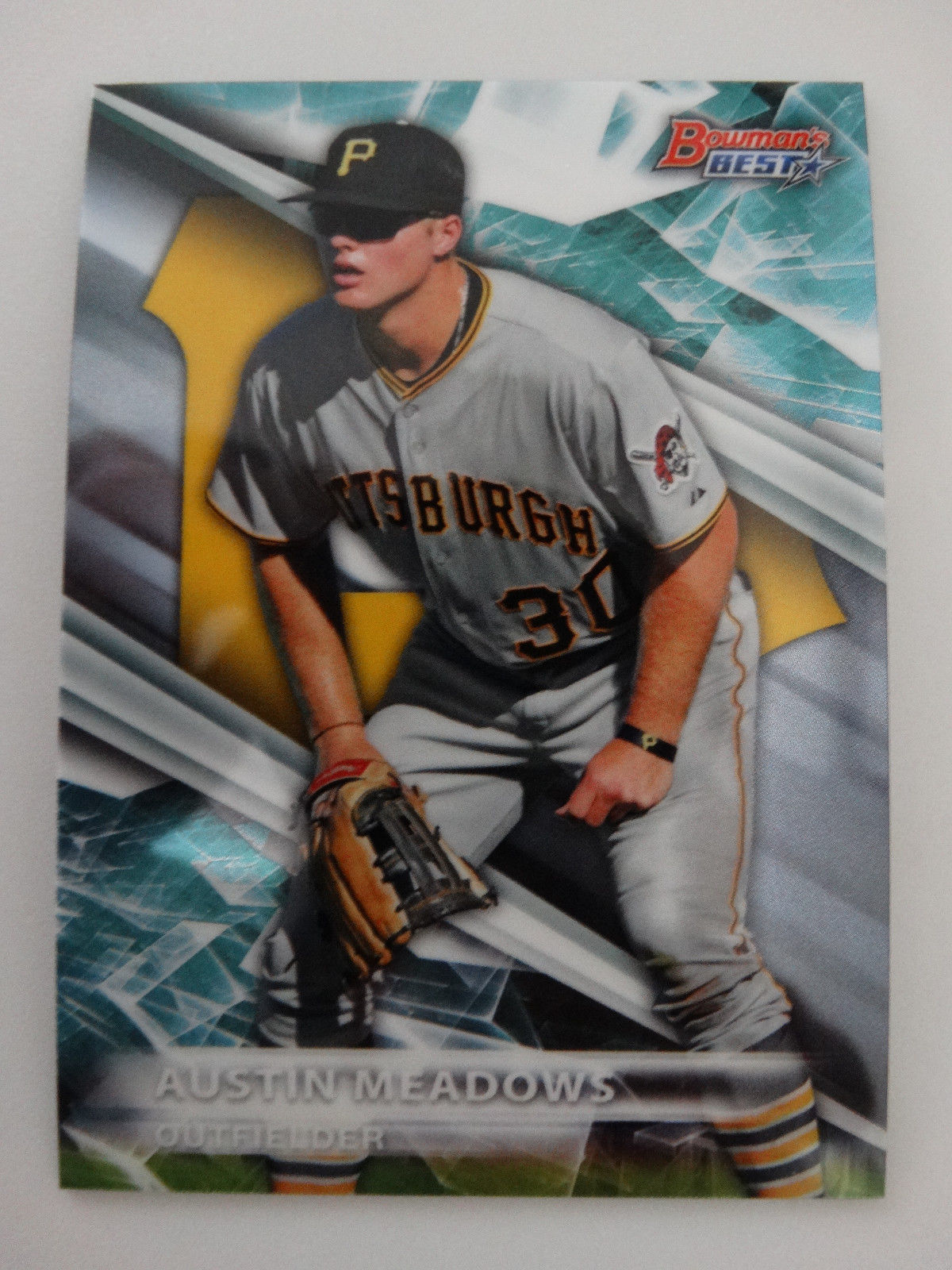 Primary image for 2016 Bowman's Best #TP-10 Austin Meadows Pittsburgh Pirates Baseball Card