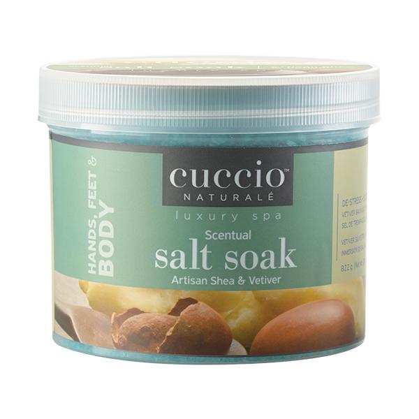 Cuccio Naturale Artisan Shea & Vetiver Scentual Salt Soak, 29 oz