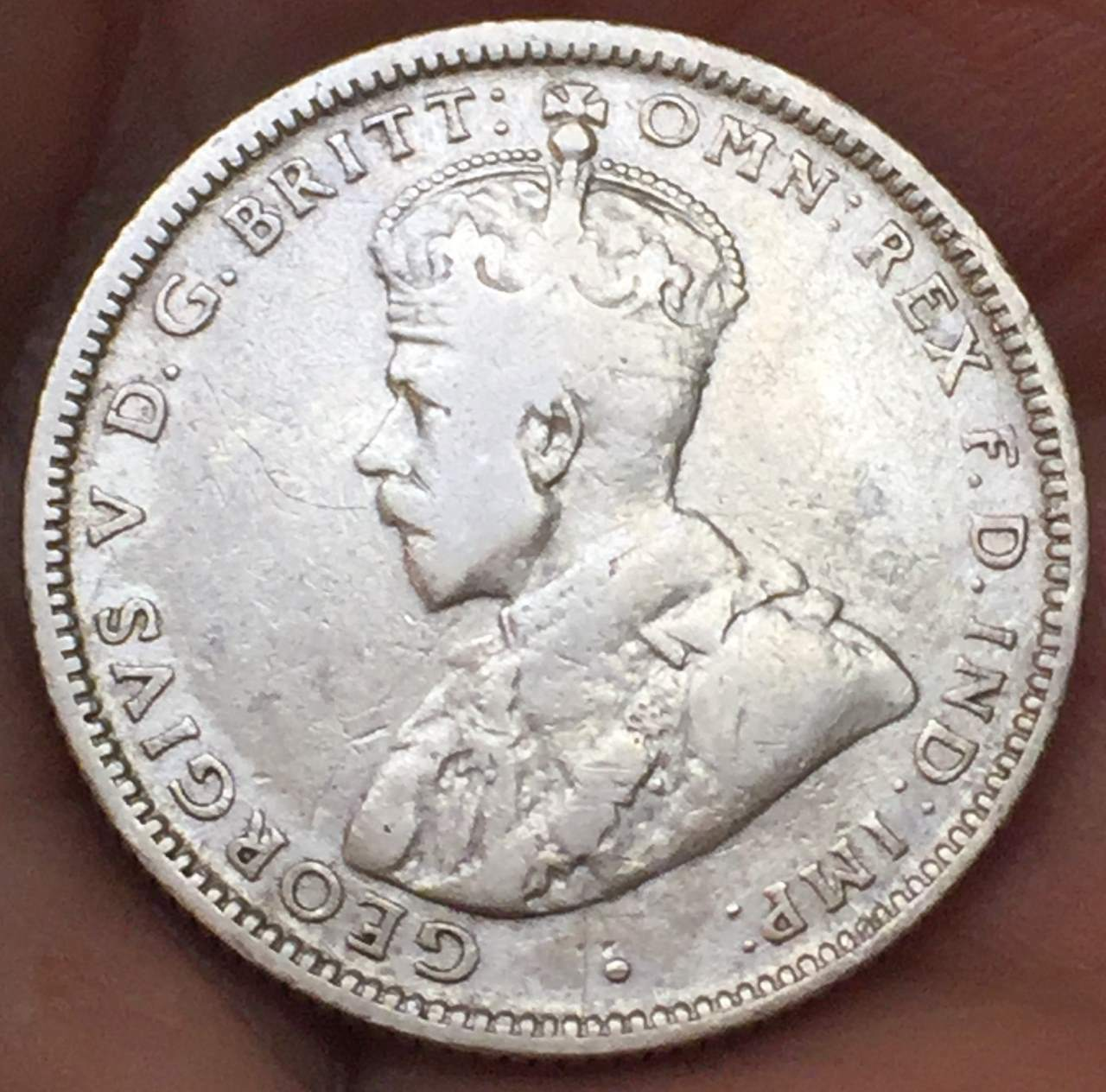 Primary image for 1925 Australia 1 Shilling George V Rare Silver Coin Very Nice!