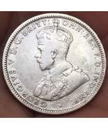 1925 Australia 1 Shilling George V Rare Silver Coin Very Nice! - $14.77