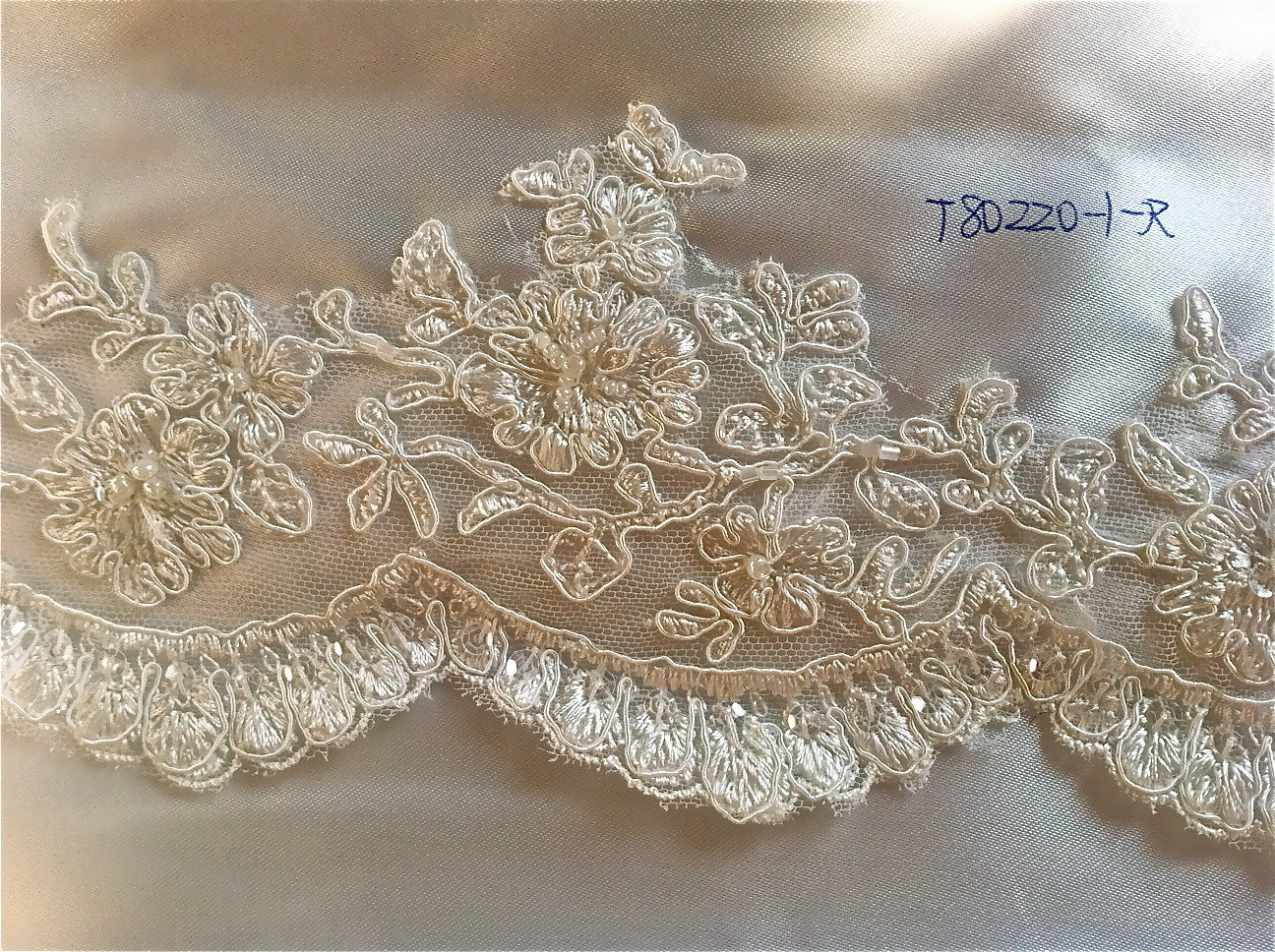 Ivory Alencon trim lace, beaded with and 50 similar items