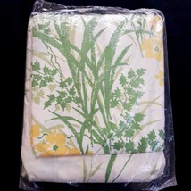 Vtg Sears Twin Fitted Sheet Sunflower Light Yellow Floral Flower Percale... - $14.99