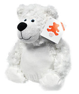 Embroider Buddy Bobby Bear White 16 Inch Embroidery Stuffed Animal - $29.66