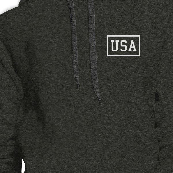 Mini USA Unique 4th Of July Unisex Dark Grey Hoodie Patriotic Gifts