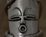 Voodoo Hoodoo Face Mask Ring Antique Silver Knuckle Art Snake Magic SIZE 6.5