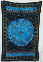 Astrology Tapestry 54 X 86 Inches Aprox New Blue Cotton - $26.60