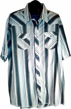 "Wrangler Men's X-LONG Tails 20 Western Shirt Pearl Snap Front 33""L X 28"" Chest I - $12.99"