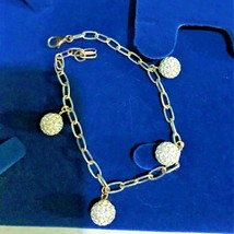 Sparkle Disco Ball Bracelet   Sterling Silver  7.5 inches - $28.16
