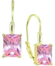 Giani Bernini Pink Crystal Drop Earrings-18k Gold -Over Sterling Silver ... - $30.54