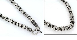 6.5mm Byzantine Rope Ring Black 925 Solid Sterling Silver Chain Necklace... - $211.83+