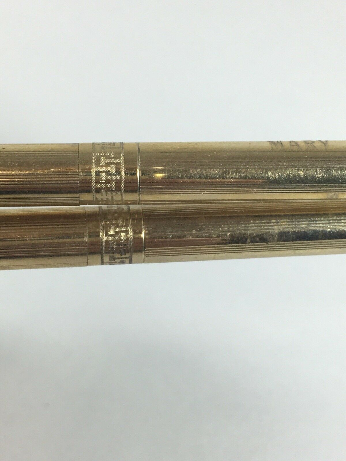 "Vintage Cross Pen And Pencil Set 1/20th 10k Gold Filled Engraved ""mary"" image 6"