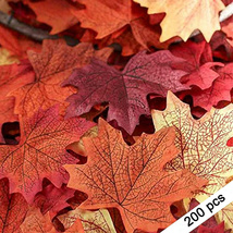 Artificial Autumn Maple Leaves Fake Fall Foliage Wedding Decor Table Dec... - €14,43 EUR