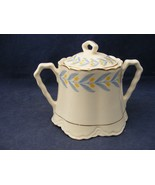 W S George Radisson China Covered Sugar Bowl Yellow Tulips Blue leaves - $19.95