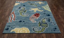 Tropical Coastal Island Seahorse Indoor Outdoor Area Rug **FREE SHIPPING** - €39,46 EUR+