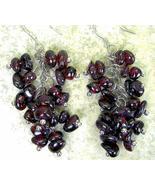 Cluster of Red Natural shape Rondelle Garnet Da... - $79.00
