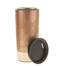 Starbucks Rose Gold Diamond Stainless Steel Travel Tumbler 12 oz Cup Cor... - $65.33
