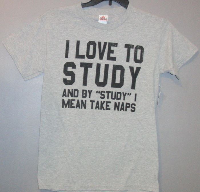 Primary image for Alstyle I Love To Study Graphic Tee T-Shirt Size S New With Tags